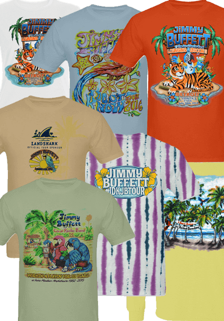 Select Buffett Tour Shirts Now Available Online