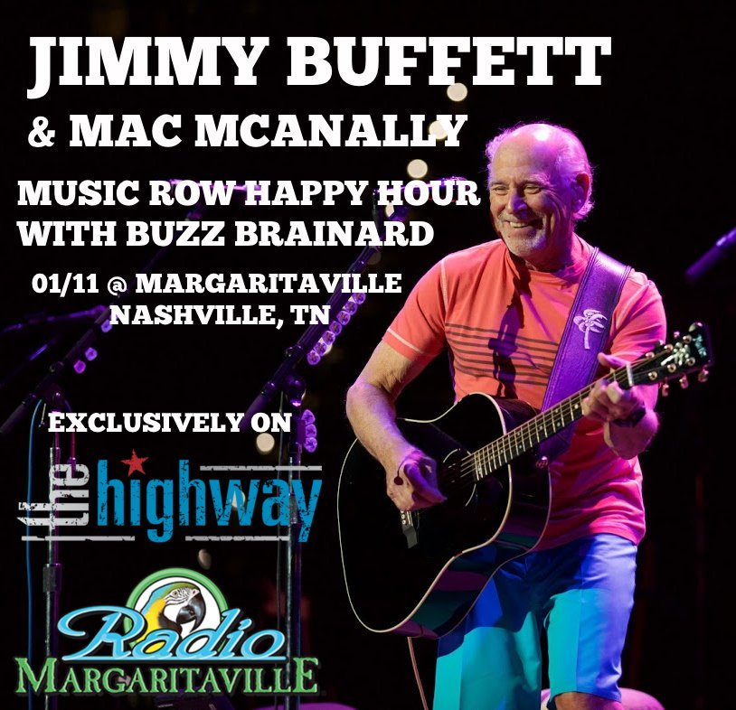 Buffett Performing Live from Nashville Margaritaville on Friday Night